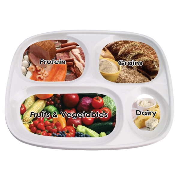 Melamine Sectional Portion Dietary Plate Photo