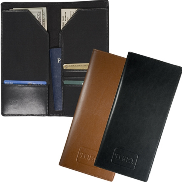 Liberty Leeman New York Collection - Cowhide - Sueded Full Grain Leather Bi-fold Travel Wallet Photo