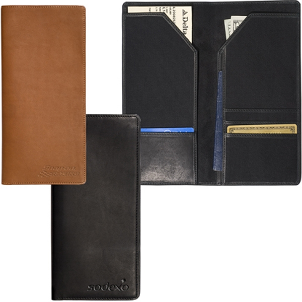 Liberty Leeman New York Collection - Sueded Full-grain Leather - Sueded Full Grain Leather Bi-fold Travel Wallet Photo