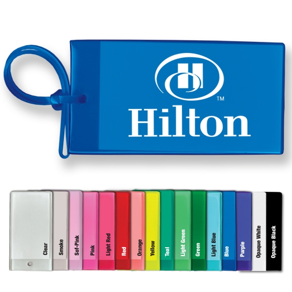 Sof-touch (tm) - Bag & Luggage Tag - Business Card Insert. Flexible; Spot Color Screen Print Photo