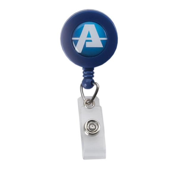 Retractable Badge Reel With Vinyl Snap And Bulldog Clip Photo