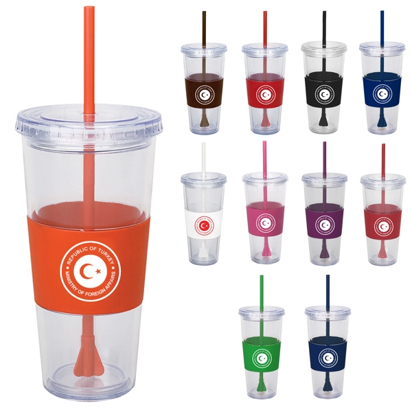 20oz. Cecily double wall clear acrylic cup