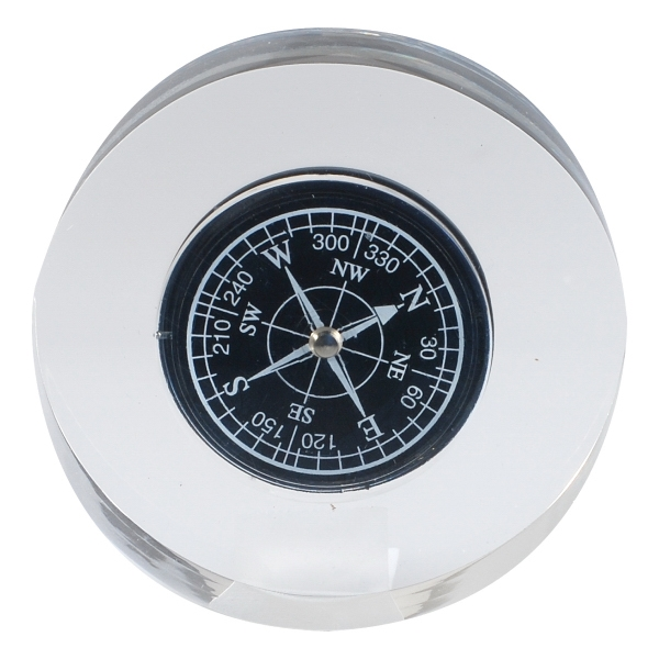 Round Resin Compass Paperweight Photo