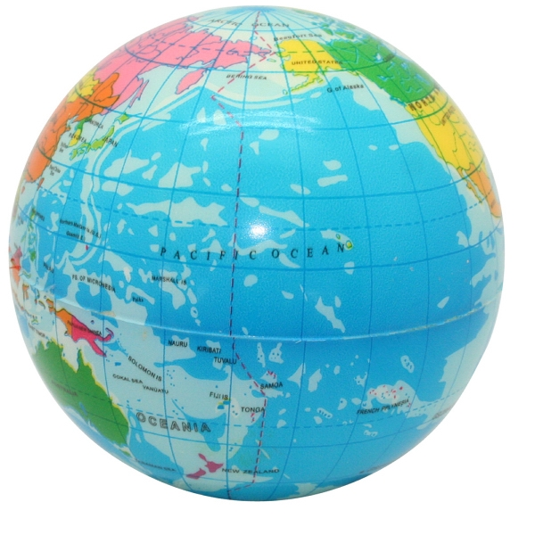 Squeezies (r) - Printed Earth Ball Stress Reliever Photo