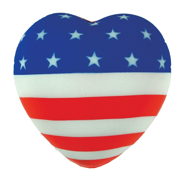 Squeezies (r) - Flag Heart Stress Reliever Photo