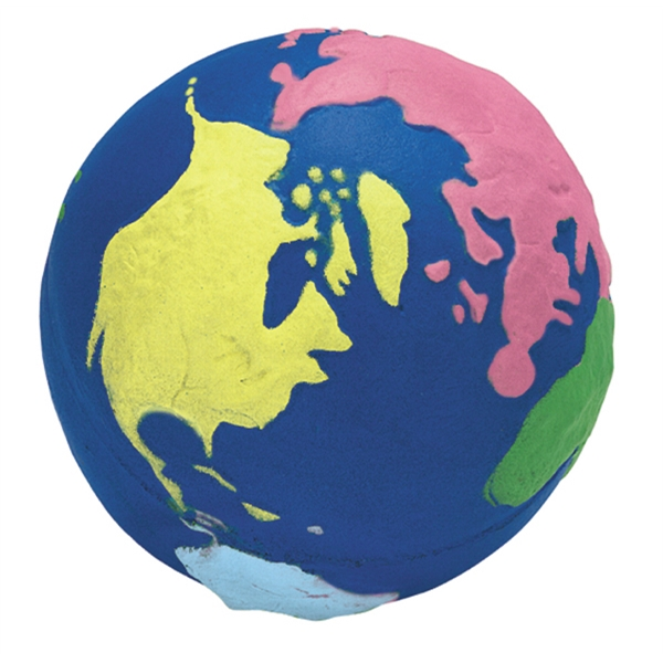 Squeezies (r) - Multi-color Planet Earth Design Stress Reliever Photo