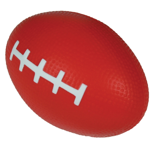 "Squeezies (r) - Red - Football Shape Stress Reliever. 3.5"" X 2"" Photo"