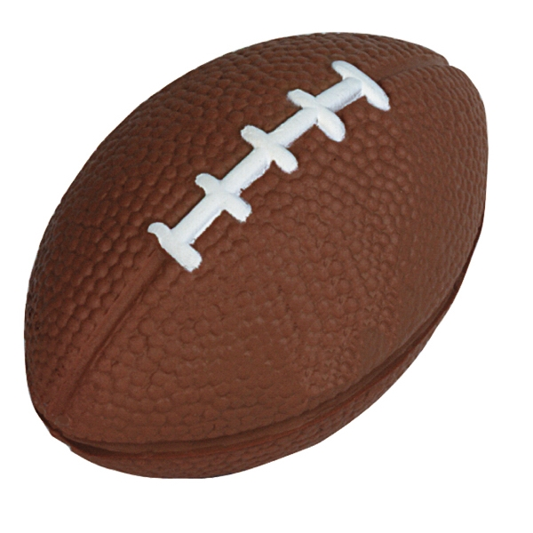 "Squeezies (r) - Brown - Football Shape Stress Reliever. 3.5"" X 2"" Photo"