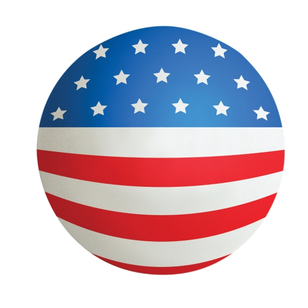 Squeezies (r) - Stress Ball With Us Flag Design On Front Photo