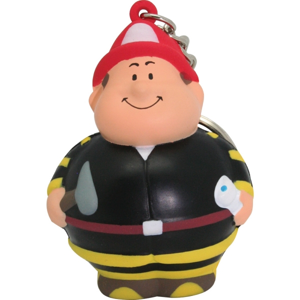 Fireman Bert (TM) Squeezie (R) Keychain
