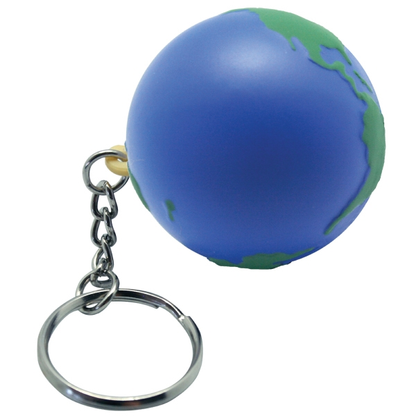 Squeezies (r) - Earth Shaped Stress Reliever With Key Holder Photo