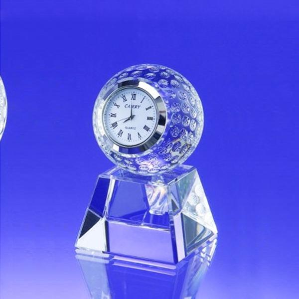 Award-60mm Golf Ball Clock w/ Base
