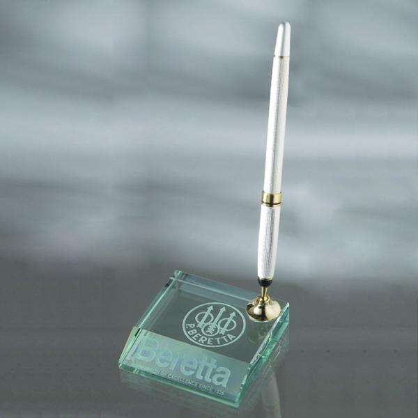 Award-Jade Glass Pen Set w/ 1 pen