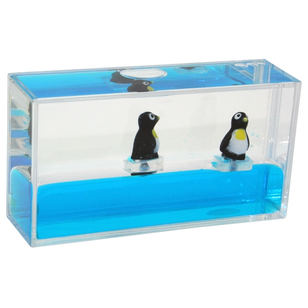 Mini Wave Liquid Motion Paperweight With Aquatic Animal Inserts Photo