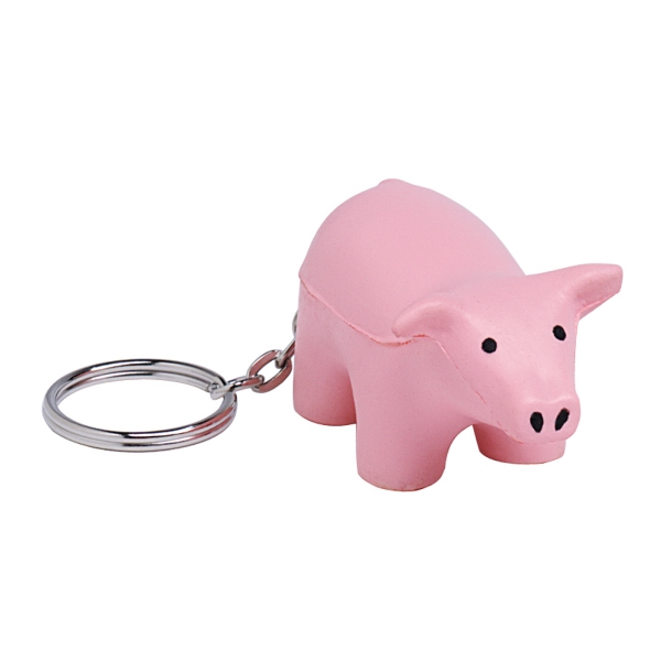 Squeezies (R) Pig Keyring Stress Reliever