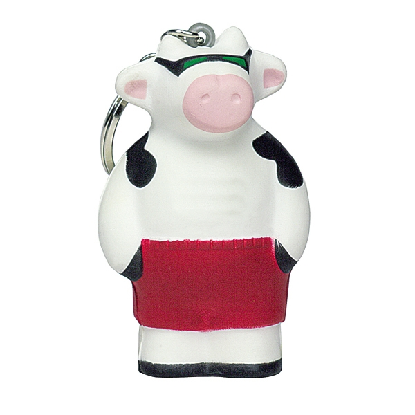 Squeezies (R) Cool Cow Keyring Stress Reliever