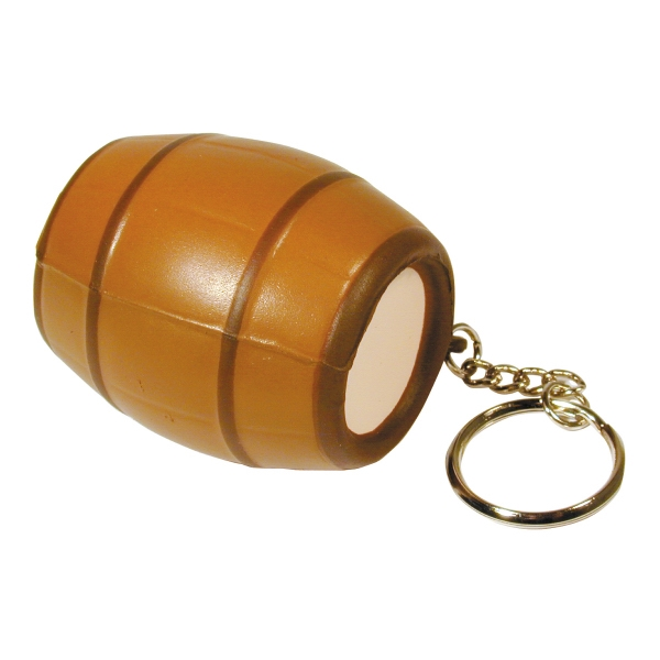 Squeezies (r) - Barrel Shaped Stress Reliever With Key Holder Photo