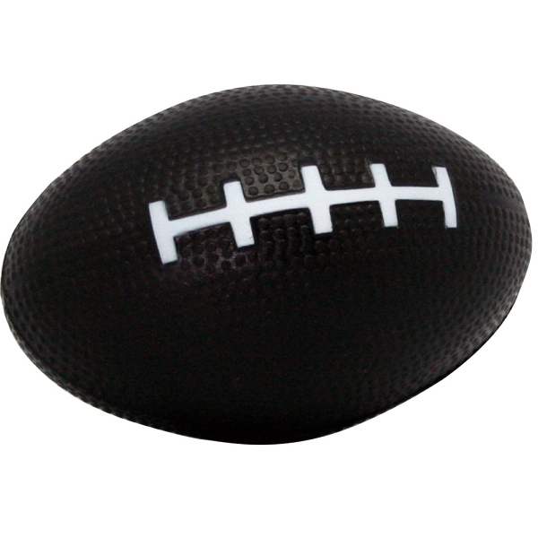 "Squeezies (r) - Black - Football Shape Stress Reliever. 3.5"" X 2"" Photo"
