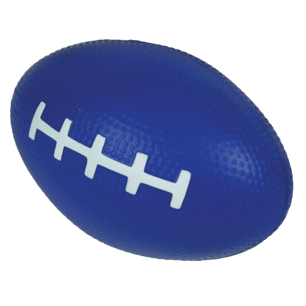 "Squeezies (r) - Blue - Football Shape Stress Reliever. 3.5"" X 2"" Photo"
