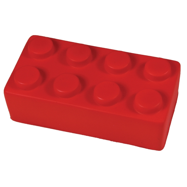 Squeezies (r) - Red - Construction Block Shaped Stress Reliever Photo