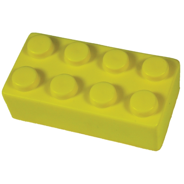 Squeezies (r) - Yellow - Construction Block Shaped Stress Reliever Photo