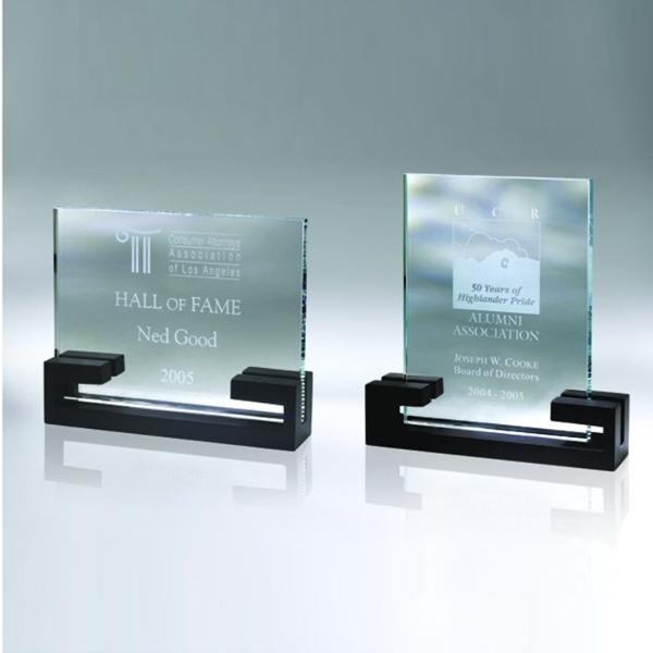 """Award-Award w/ Wood Base 8 5/8"""""""
