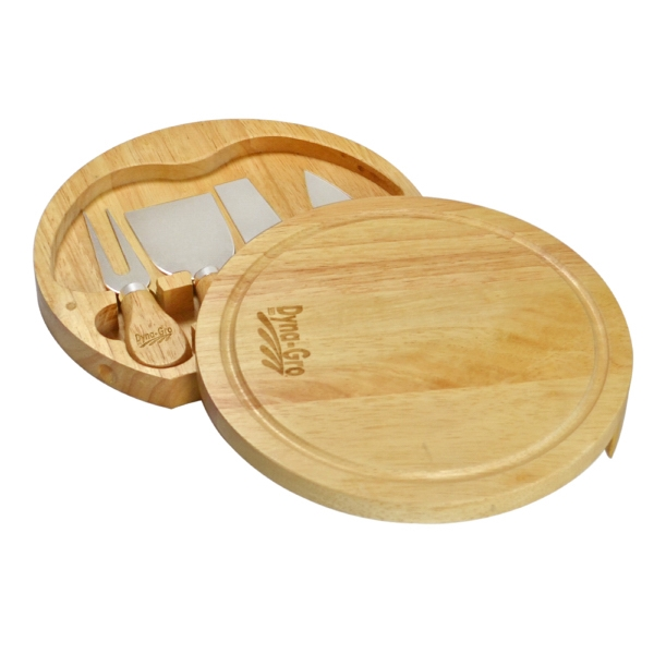 SWIVEL CHEESE BOARD SET WITH 4 TOOLS