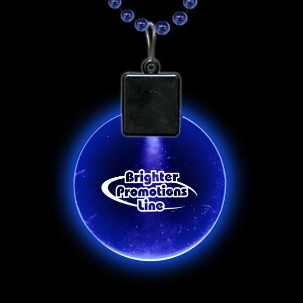 "Blue 2 1/2"" Light-up Medallion Photo"