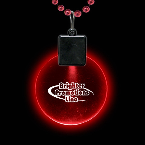 "Red 2 1/2"" Light-up Medallion Photo"