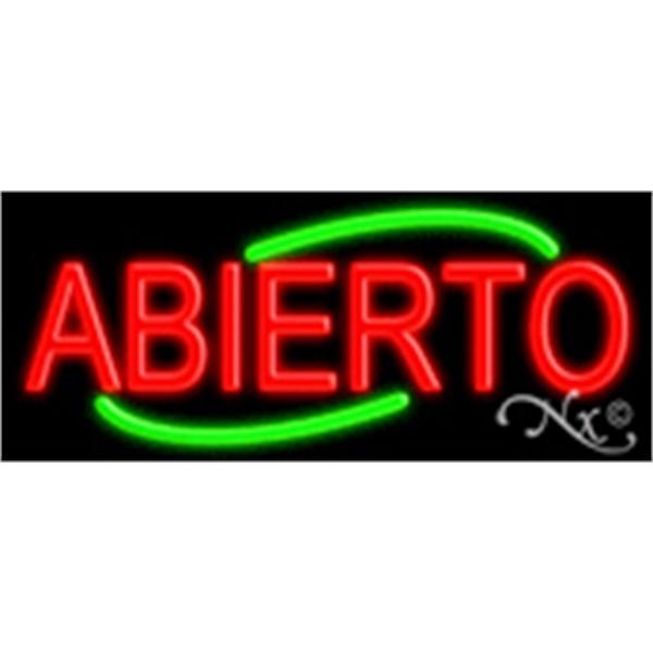 "Abierto Economic Neon Sign - Abierto Economic neon sign, 24"" x 10"" x 3""."