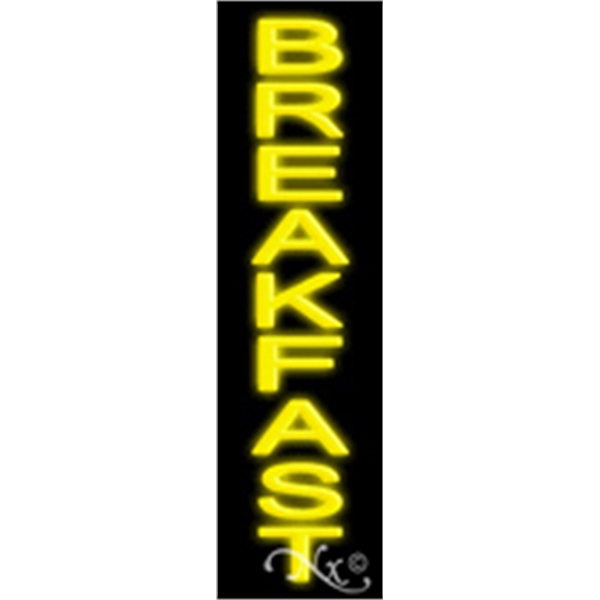 "Breakfast Economic Neon Sign - Breakfast economic neon sign, 29"" x 8"" x 3""."
