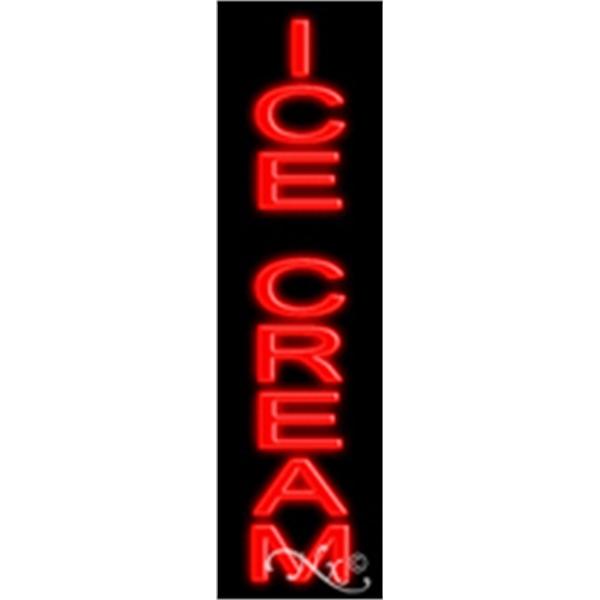 """Ice Cream Economic Neon Sign - Ice Cream economic neon sign, 29"""" x 8"""" x 3""""."""