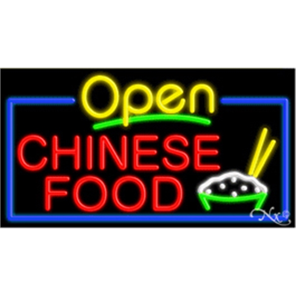 "Neon Display Sign Outdoor Indoor for Business Office Store - Neon sign, 20""x 37""x 3""."