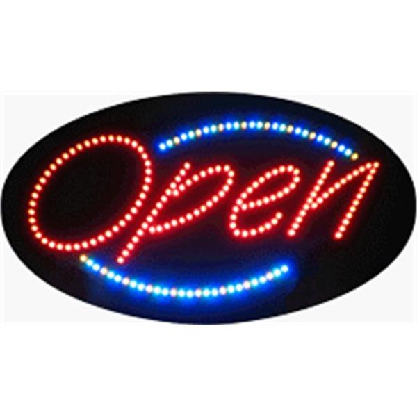 "Open (Animations) LED Sign - Open (animations) LED sign, 15"" x 27"" x 1""."