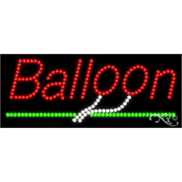 "Balloon LED Sign - Balloon LED sign, 11"" x 27"" x 1""."