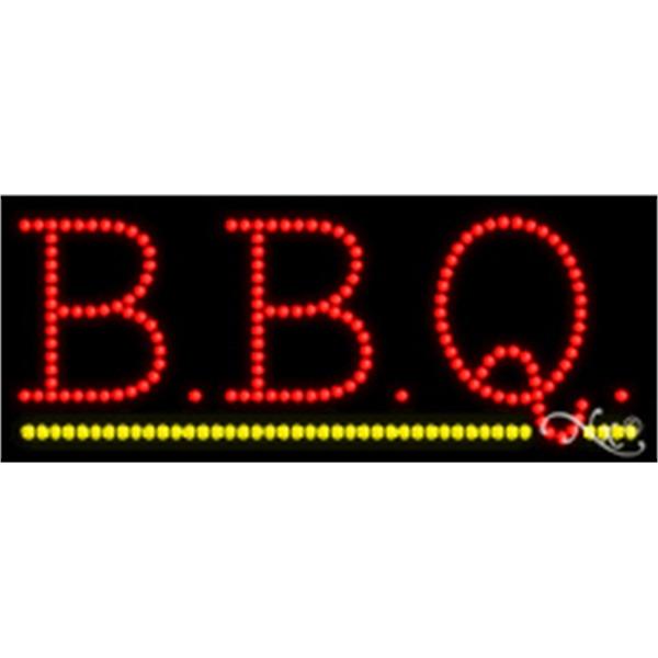 """B.B.Q. LED Sign - B.B.Q. LED sign, 11"""" x 27"""" x 1""""."""