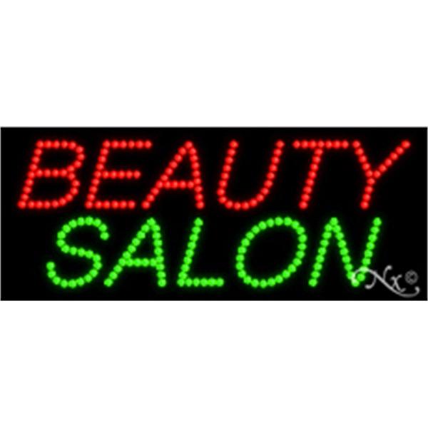 "Beauty Salon LED Sign - Beauty Salon LED sign, 11"" x 27"" x 1""."
