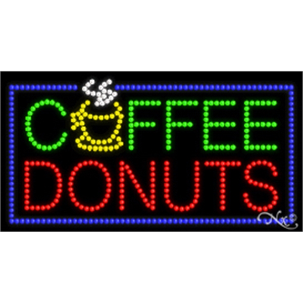 "LED Display Sign Outdoor Indoor for Business Office or Store - LED sign, 17"" x 32"" x 1""."