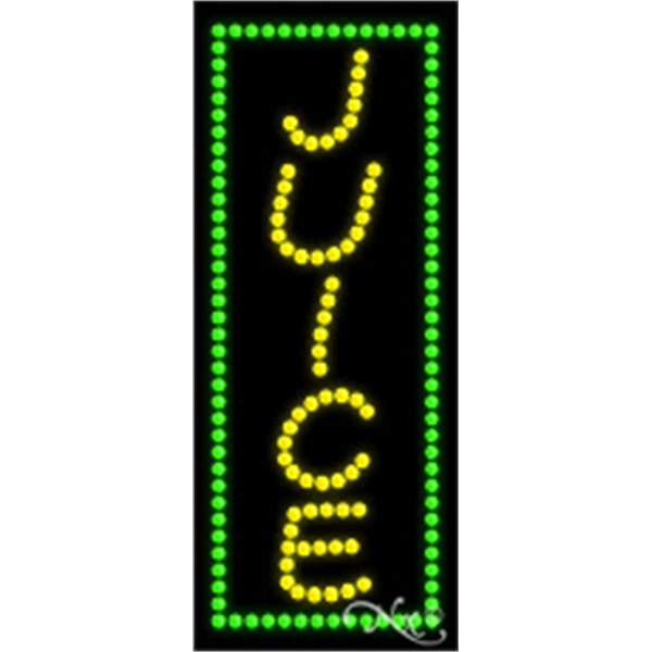 "LED Sign - LED sign, 11"" x 27"" x 1""."