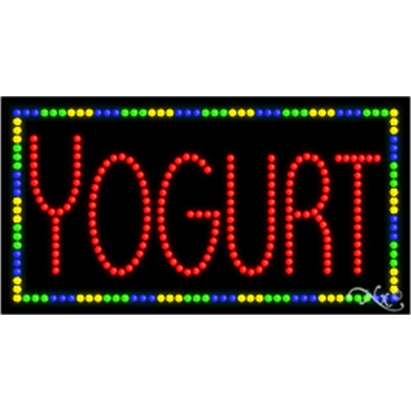 """LED Display Sign Outdoor Indoor for Business Office or Store - LED sign, 17"""" x 32"""" x 1""""."""