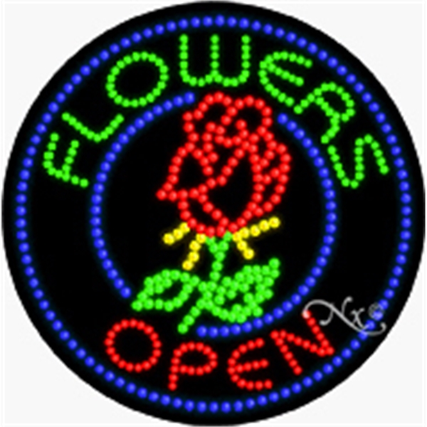 """LED Display Sign Outdoor Indoor for Business Office or Store - LED sign, 26"""" x 26"""" x 1""""."""