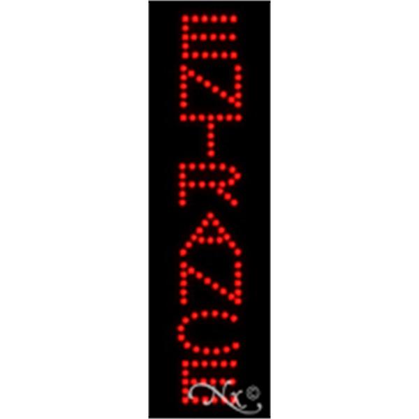 "Entrance Economic LED Sign - Entrance economic LED sign, 24"" x 7"" x 1""."