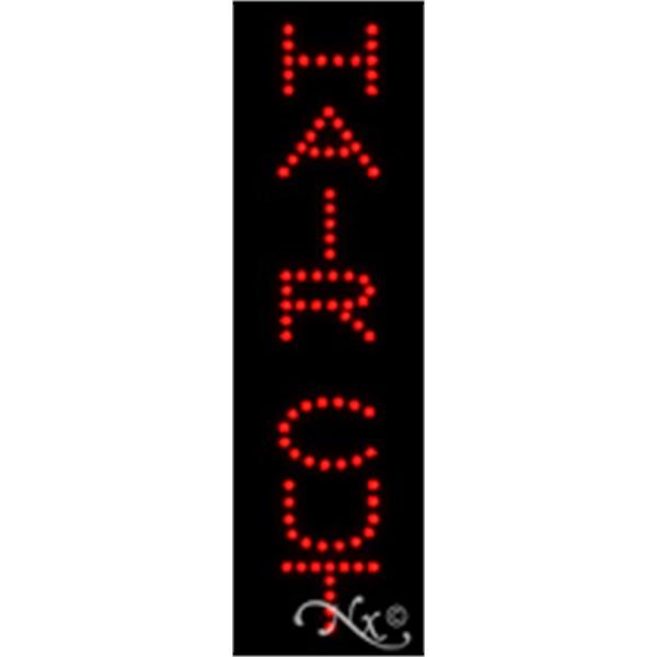 "Hair Cut Economic LED Sign - Hair cut economic LED sign, 24"" x 7"" x 1""."