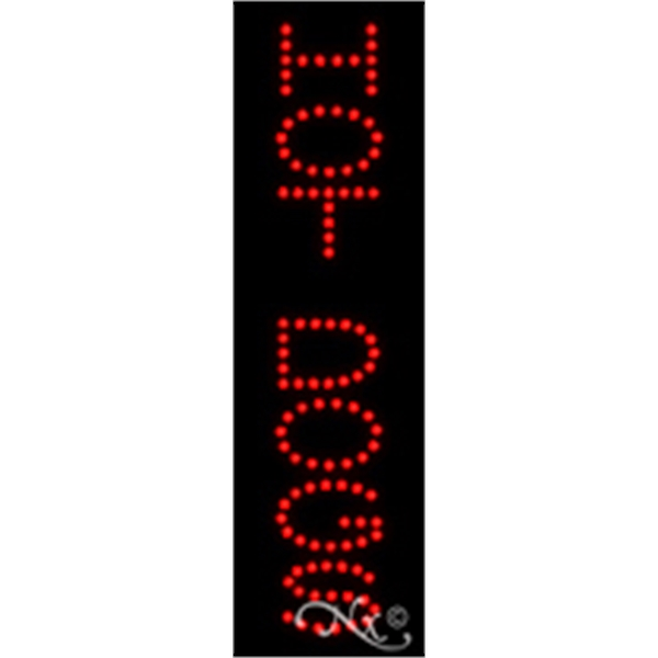 """Hot Dogs Economic LED Sign - Hot Dogs economic LED sign, 24"""" x 7"""" x 1""""."""