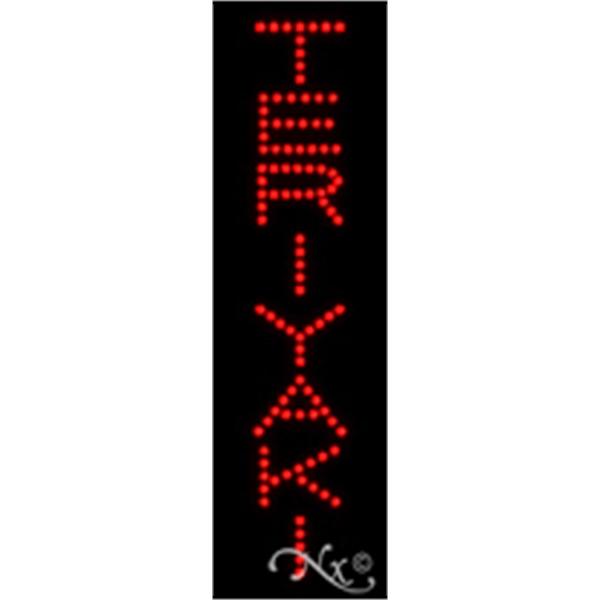 "Teriyaki Economic LED Sign - Teriyaki economic LED sign, 24"" x 7"" x 1""."