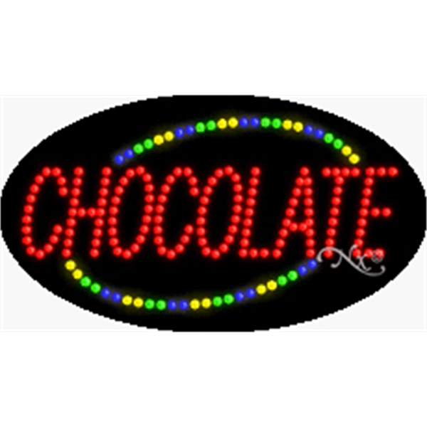 "Animation Fashing LED Sign for Business Office or Store - Animation and flashing LED sign, 15"" x 27"" x 1""."