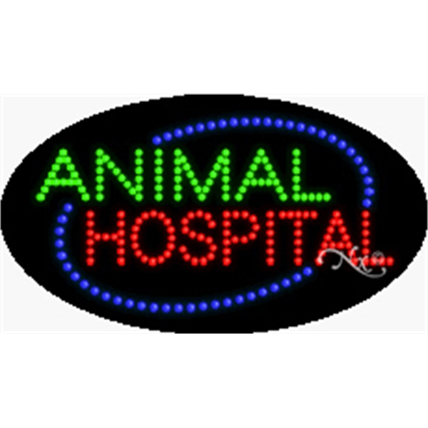 "Animation & Flashing LED Sign - Animation and flashing LED sign, 15"" x 27"" x 1""."