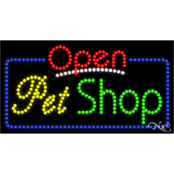 """LED Display Sign Outdoor Indoor for Business Office or Store - LED sign with Open Flasher & Animation.17"""" x 32"""" x 1""""."""