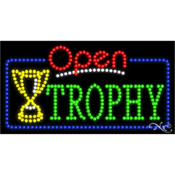 """LED Sign w/ Open Flasher & Animation - LED sign with Open Flasher & Animation.17"""" x 32"""" x 1""""."""