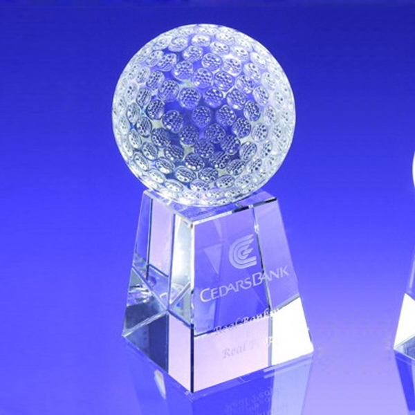 """Award-Golf Ball w/ Tall Base 8"""""""